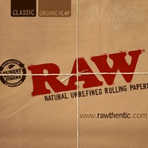 Raw organic hemp paper